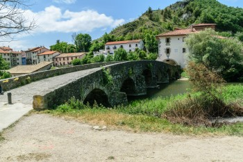 Medieval bridge over the river Ulzama--as the Camino enters Pamplona