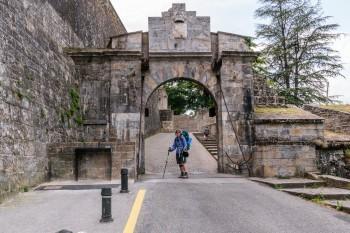 Drawbridge into the old part of Pamplona