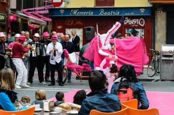 Street entertainment in Pamplona