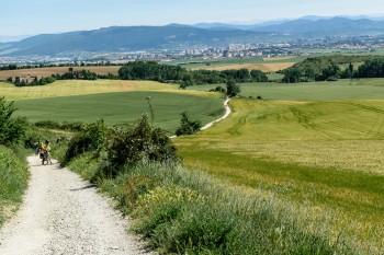 View back toward Pamplona