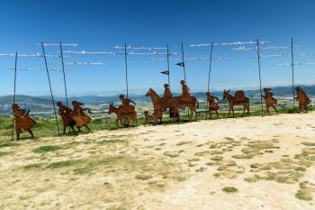 Pilgrim sculptures of Alto del Perdon