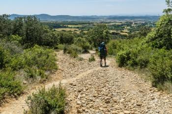 Descent from Alto del Perdon