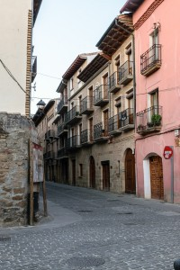 Evening, street in Puenta la Reina
