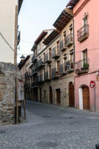 Evening, street in Puenta la Reina