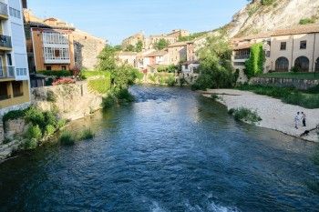 Rio Ega flowing through Estella