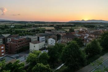 View from overlook, walls of Viana