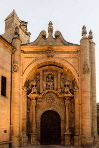 Entrance to ruins of Church of St. Peter, Viana