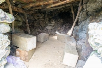 Interior, mountain hut shelter