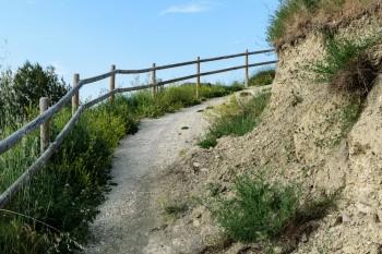 Hillside trail to scenic overlook of Belorado