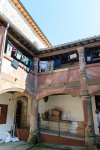 Interior courtyard, San Juan de Ortega parish albergue