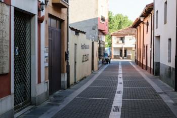 Morning, leaving Mansilla de las Mulas