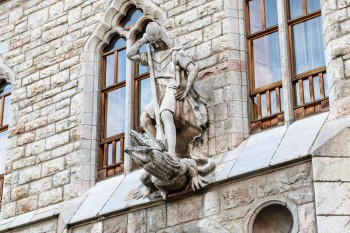 Sculpture on Caja Espana building