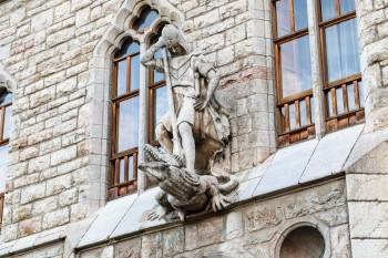 Sculpture on Caja Espana building