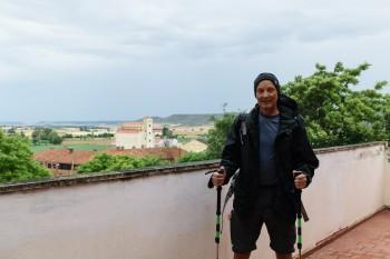 Leaving Castrojeriz on a wet, overcast morning
