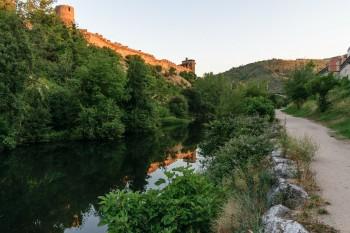 Castillo de los Templarios and rio Sil, Ponderrada