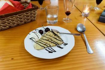 Crepes for dessert