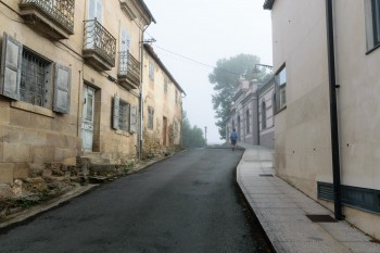 Early morning, walking through Sarria