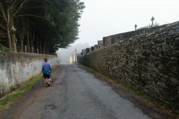 Early morning, leaving Sarria