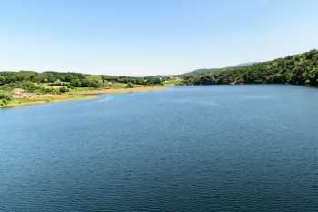 Belesar Reservoir, which covers the original site of Portomarin