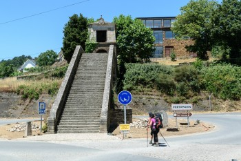 Stairs into Portomarin, part of the original bridge across the river Mino.