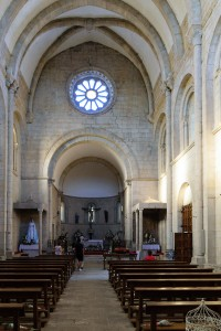 Interior, Church of San Nicolas, Portomarin