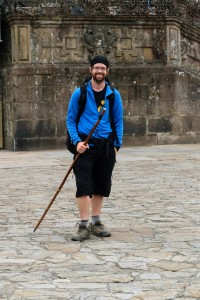 Hywel, reaching the cathedral at Santiago