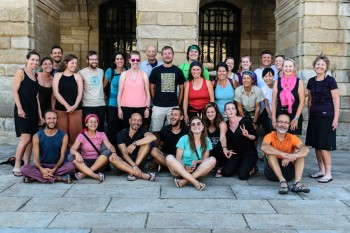 Group photo from the evening we arrived in Santiago