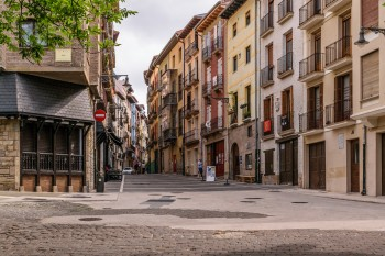 Streets of old Pamplona