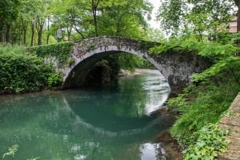 Roman bridge, river Nive, St. Jean