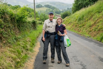 Test-hiking the first couple miles of the Camino