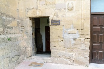 Entrance, parish hostel, Granon