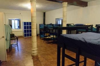 Bunk room, San Juan de Ortega parish albergue