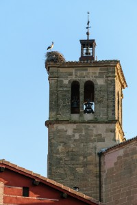 Stork nest, Church of Our Lady of the Angels, Azofra