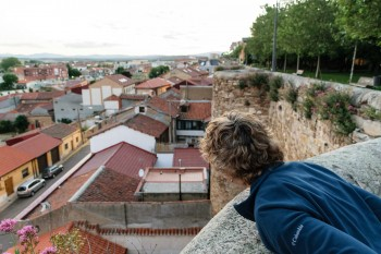Looking out over the old walls of Astorga