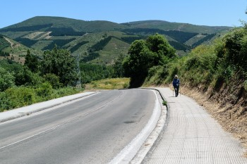 Leaving Molinaseca, headed for Ponferrada