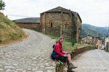 Approaching 11th century Church of Santiago