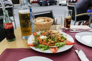 Dinner on the plaza