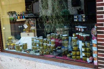 Deli window we passed on way out of town