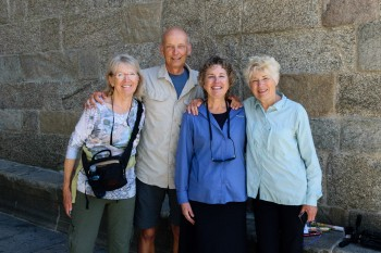 Meeting up with Anne and Susan in Santiago