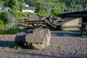 Sculpture along the River Walk, Kinlochleven