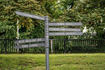 Milngavie signpost