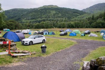 Campsite at Beinglas Farm, Inverarnan