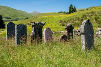 Graveyard near ruins of St. Fillan's Priory