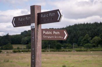 Path to Glengoyne Distillery