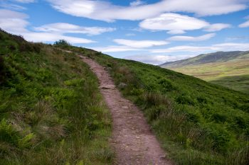 Trail near summit of Conic Hill