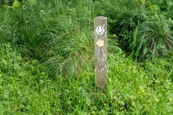 West Highland Way trail marker