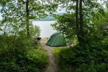 Campground on shore of Loch Lomond