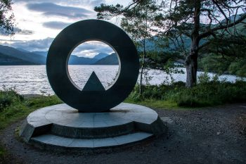 Loch Lomond National Park Memorial Sculpture: Dedicated to those who lost their lives in World Wars I and II